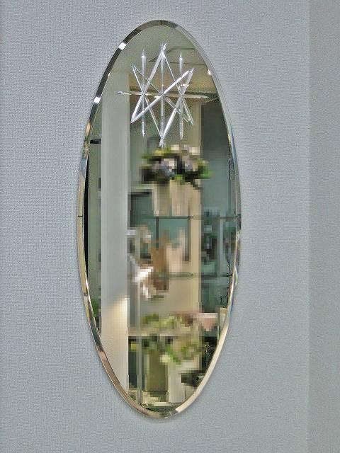 楕円形化粧鏡Vカット FLD-3580