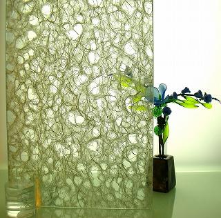 和紙合わせガラス 銀